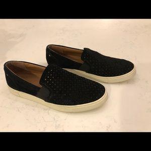 Frye Black Suede Slip-on Sneakers